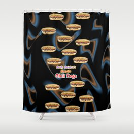 Bwilly Bwightt's Nasty Hot Chili Dogs  Shower Curtain