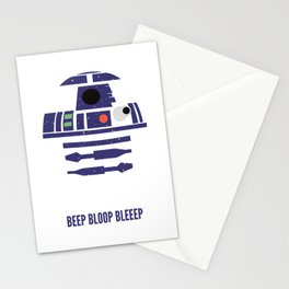Beep Bloop Bleep R2D2 Stationery Cards