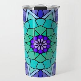 Flower power mandala in bold colors Travel Mug