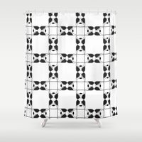 terrier Shower Curtains featuring Terrier by Janae Hall