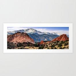 Pikes Peak Mountain Panorama - Colorado Springs Art Print