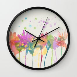 dp059-1 Watercolor flowers Wall Clock