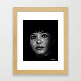 Anna Karina Framed Art Print