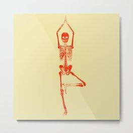 Skeleton Vriksasana Metal Print