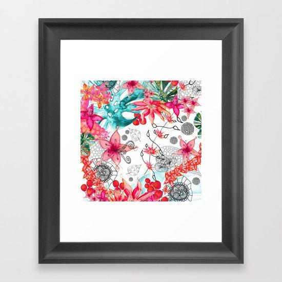 TROPICAL GARDEN Framed Art Print