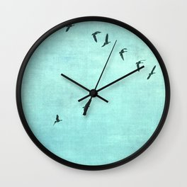 GEESE FLYING Wall Clock