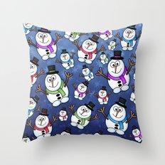 Frosties The Snowmen. Throw Pillow