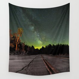 Northern Lights (Color) Wall Tapestry