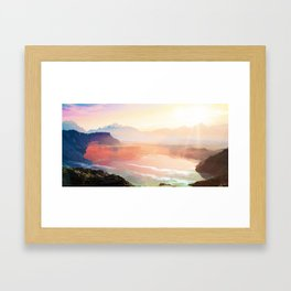 Sunrise Grandeur #society6 #decor #buyart Framed Art Print