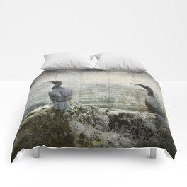 Two Cormorants Comforters