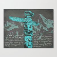 alaska Canvas Prints featuring Alaska by Last Call