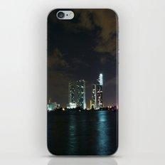 Miami night skyline iPhone & iPod Skin