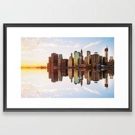Reflection of Manhattan Framed Art Print