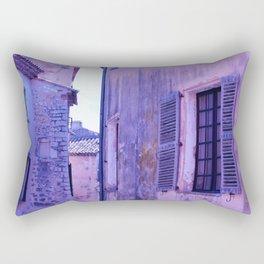 Ancient purple village Rectangular Pillow