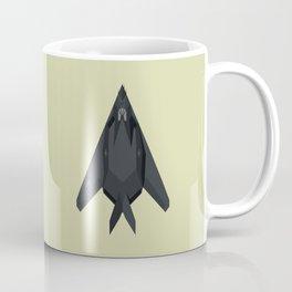 F-117 Nighthawk Stealth Jet Aircraft - Eggshell Coffee Mug