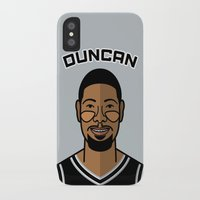 tim shumate iPhone & iPod Cases featuring Tim Duncan by Will Wild