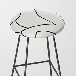 Abstract line art 2 Bar Stool