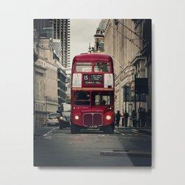 Vintage London Bus Metal Print