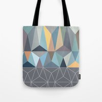 nordic Tote Bags featuring Nordic Combination 31 by Mareike Böhmer