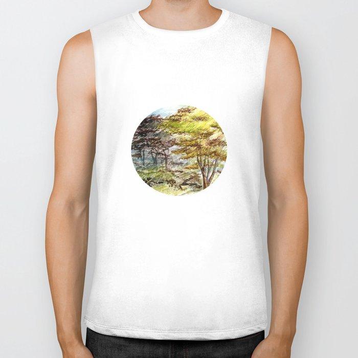 Trees Biker Tank