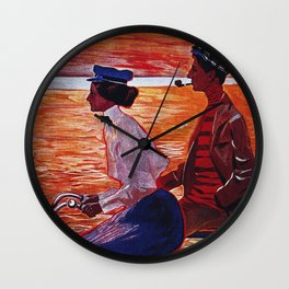 Vintage Meteor Bicycle Ad Poster Wall Clock