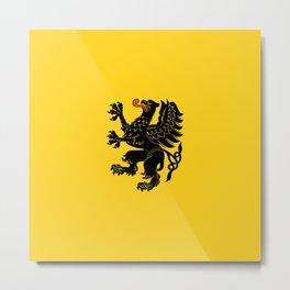 flag of pomorskie or pomerania Metal Print