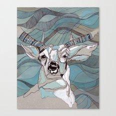 Aqua Deer  Canvas Print