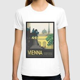 Vintage Travel Poster - Vienna T-shirt