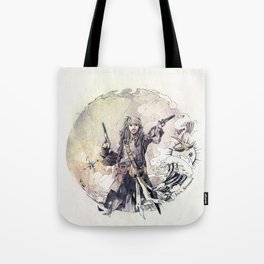 Jack Sparrow with double pistols Tote Bag
