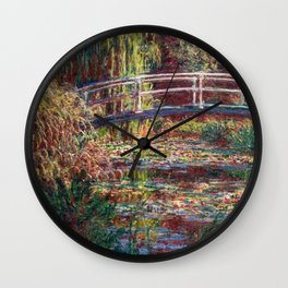 Claude Monet - Water Lily pond, Pink Harmony Wall Clock