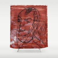 predator Shower Curtains featuring Predator Man by Jenny McEvoy