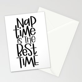Nap time is the best time Stationery Cards