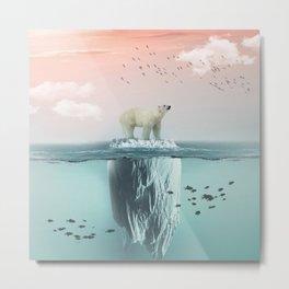 Polar Bear Iceberg Metal Print