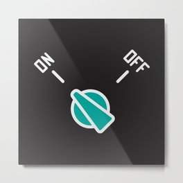 Measuring switch with new modern design  Metal Print