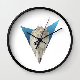 Low Poly Wolf Wall Clock