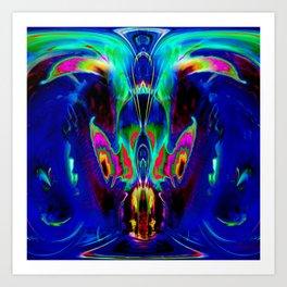 Dragon Dolphin Cave Art Print