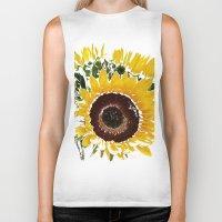 sunflowers Biker Tanks featuring Sunflowers by Regan's World