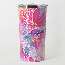 Abstract Floral Travel Mug