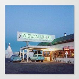 Wigwam Motel (Night) Canvas Print