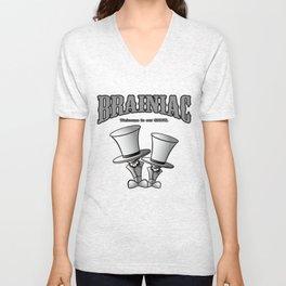 Brainiac (White) Unisex V-Neck