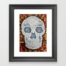 Galvanized Skull Framed Art Print