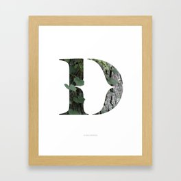 LL Series: D Framed Art Print