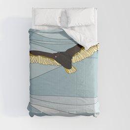 Vector Vulture in Landscape Comforters