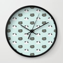 The Ollie+ Myra - Cat Pattern Wall Clock