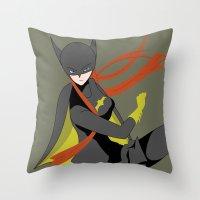 batgirl Throw Pillows featuring Batgirl by revolver74