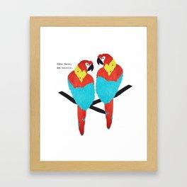 Cuban Macaw. Framed Art Print