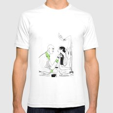 the couple SMALL White Mens Fitted Tee