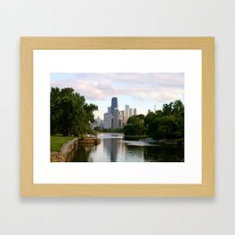 Chicago by River Framed Art Print