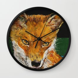 Red Fox Wall Clock