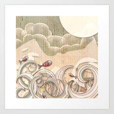 wave scape Art Print
